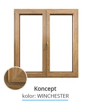 Okno Koncept, kolor: winchester