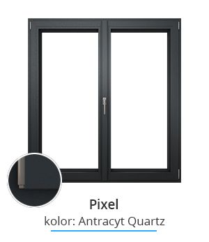 Okno Pixel, kolor: antracyt quartz