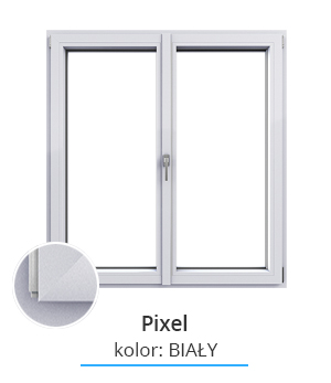 Okno Pixel, kolor: biały