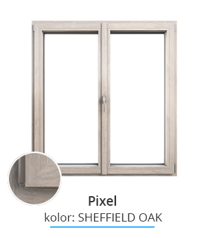 Okno Pixel, kolor: sheffield oak