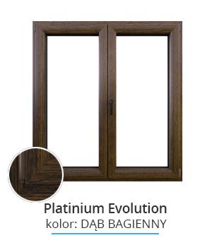 Okno Platinium Evolution, kolor: dąb bagienny