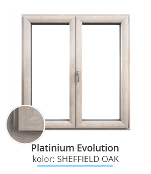 Okno Platinium Evolution, kolor: sheffield oak