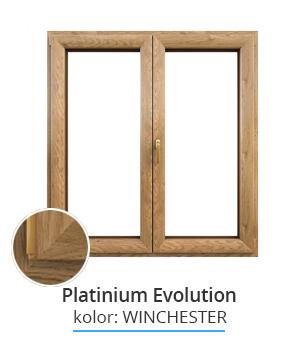 Okno Platinium Evolution, kolor: winchester