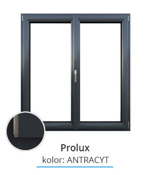 Okno Prolux, kolor: antracyt