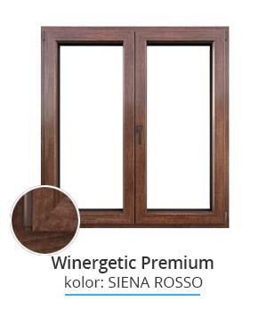Okno Winergetic Premium, kolor: siena rosso